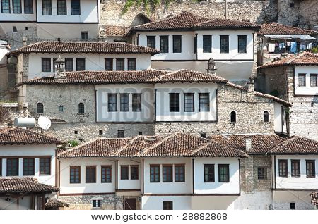 windows in Berat - Albania - also called city of a thousand windows