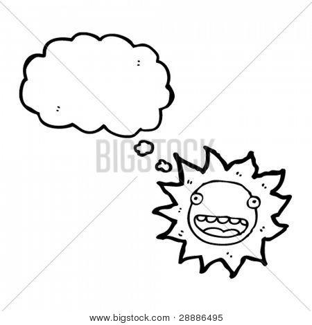 happy sun cartoon character