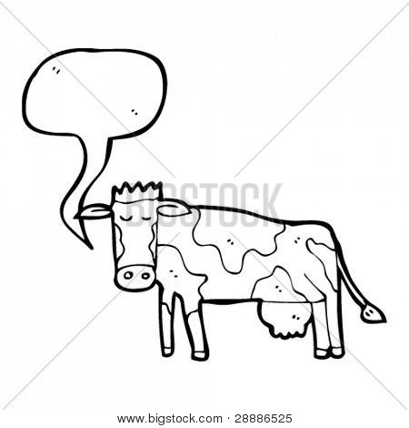 cow with speech bubble