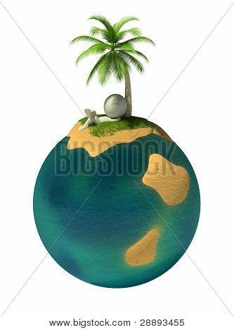 3D Small People - Desert Island