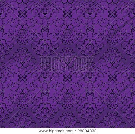Seamless Wallpaper Pattern In Shades Of Purple