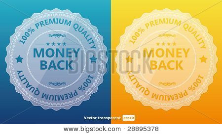 Vintage Styled Premium Transparent Label. Vector