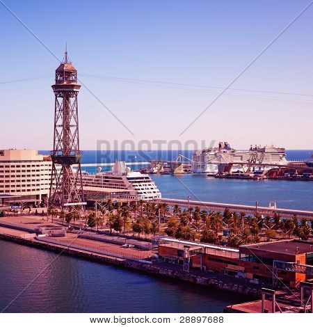 Port in Barcelona