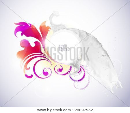 Abstract background with milk splash