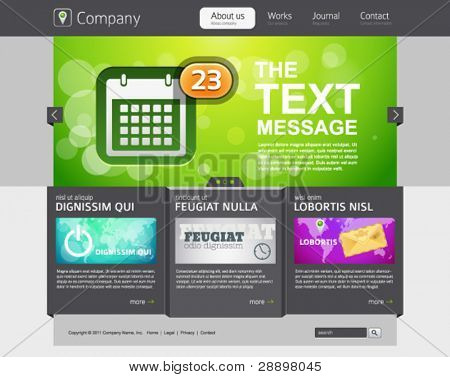 Promotion website design template