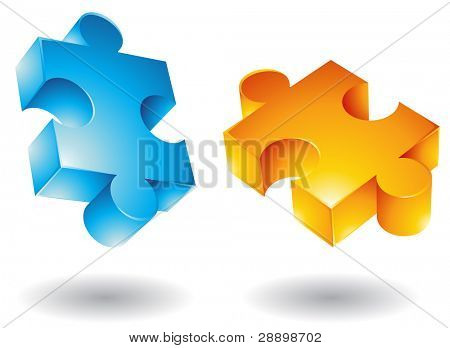 3d Jigsaw puzzle icons