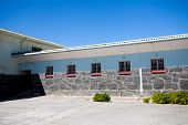 picture of nelson mandela  - former maxmium security prison in Robben Island - JPG