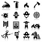 image of maltese-cross  - Icons set firefighter - JPG