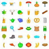 Rainy Weather Icons Set. Cartoon Style Of 36 Rainy Weather Icons For Web Isolated On White Backgroun poster