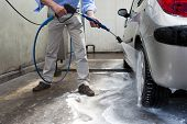 stock photo of pressure-wash  - Man - JPG