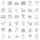 Entertainment Icons Set. Outline Style Of 36 Entertainment Icons For Web Isolated On White Backgroun poster