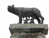 Capitoline Wolf Called Lupa Capitolina In Italian Language Is A Bronze Sculpture Depicting A Scene F poster