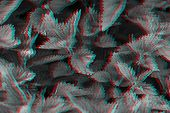 Fresh Stinging Nettle, Natural Background. Urtica Dioica. Digital Signal  Glitch Effect (rgb Shift,  poster