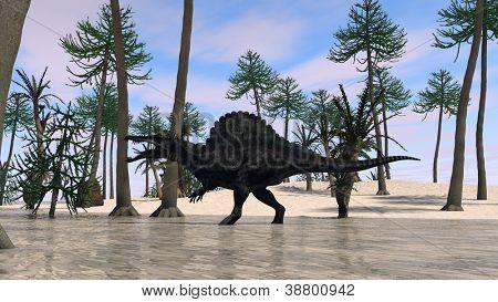 running spinosaurus