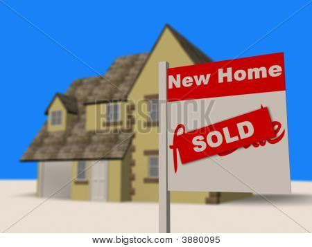 New House Sold Estate Agent Sign