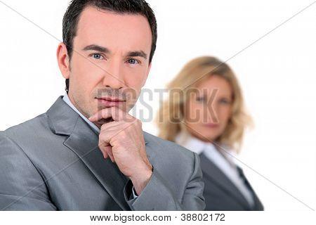 Pensive Executive