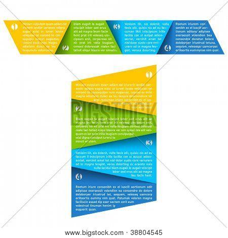 Process chart module. Vector.