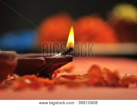 holy lamp for Diwali festival