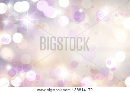 Stars on pink tone background