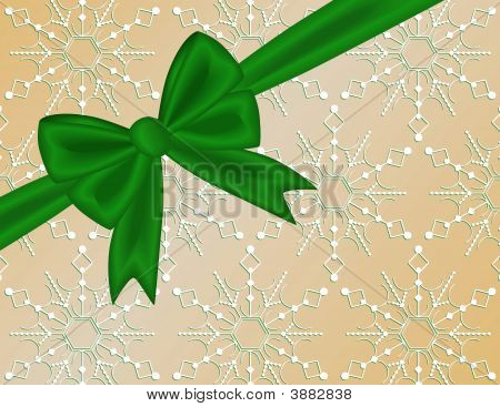 Green Holiday Ribbon Bow