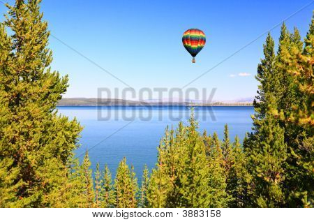 The Yellowstone Lake In The Yellowstone