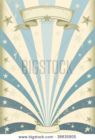 Vintage Blue background. A vintage blue background for your message