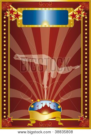 der Seiltänzer. Ein Zirkus-Poster mit einem Seiltänzer.