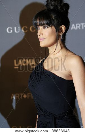 LOS ANGELES, CA - OCT 27: Salma Hayek at the LACMA 2012 Art + Film Gala at LACMA on October 27, 2012 in Los Angeles, California