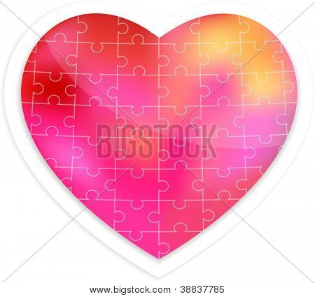 Puzzle heart vector illustration