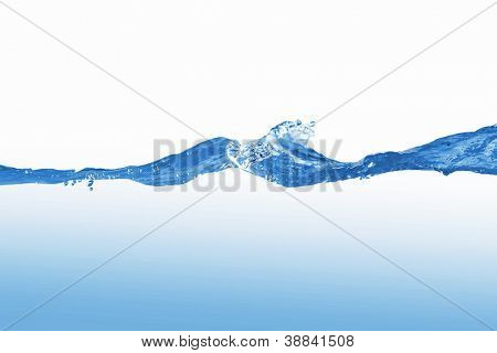 Clean blue water splash on white background illustration