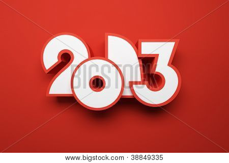 new year 2013, 3d render