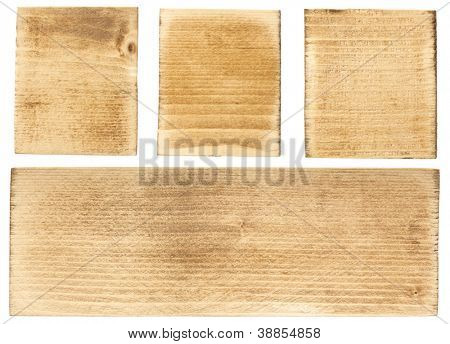 Wood blocks and plank, isolated