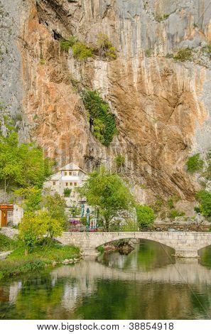 Dervish monastery in Blagaj, Bosnia and Herzegovina