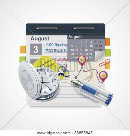 Vektor-Terminkalender-Symbol