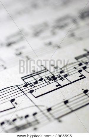 Old Musical Sheet\'s Fragment