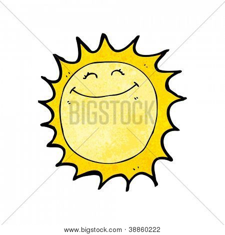 happy sun cartoon