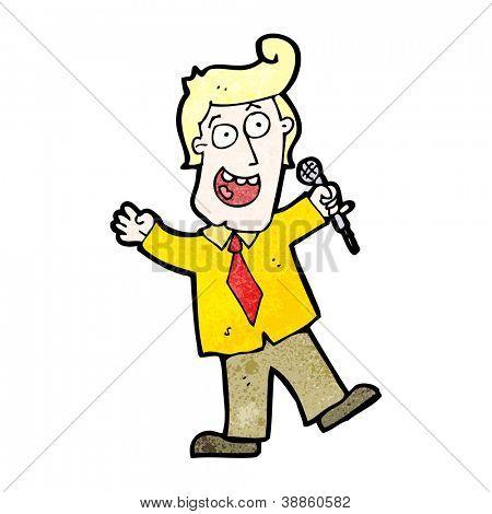 cartoon game show host