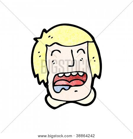 cartoon drooling man