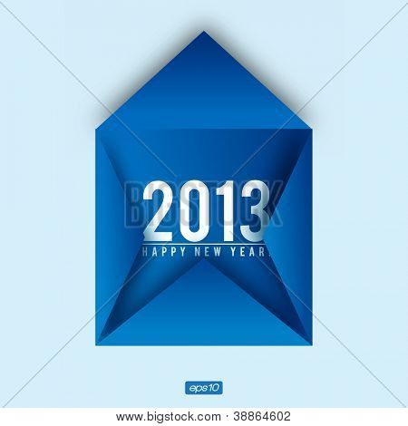 Creative 2013 Happy New Year Card | Editable Vector Design