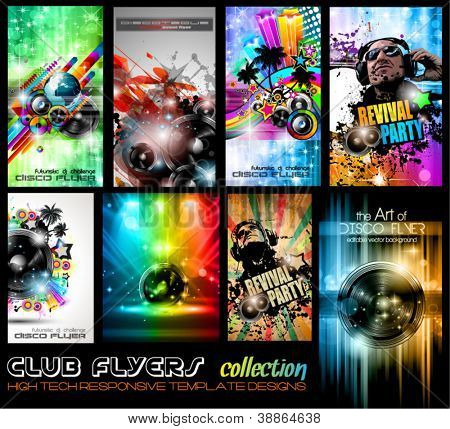 Club Flyers ultimate collection - plantilla editable completa alta calidad diseños de música pos
