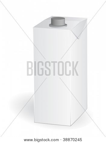 empty carton one liter for new design, vector