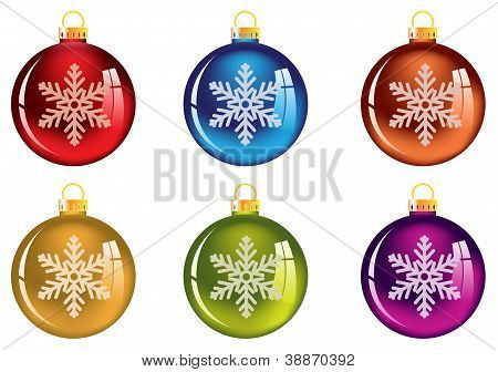 Set Of Transparent Christmas Tree Decorations