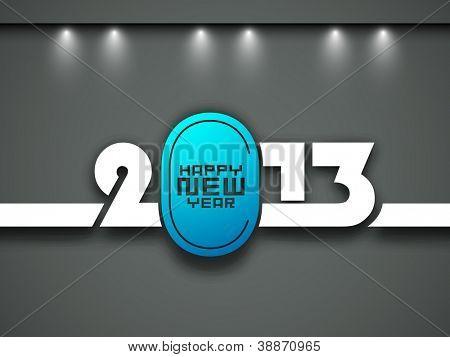 Stylized 2013 Happy New Year background. EPS 10