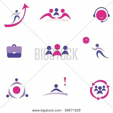 Buisness Concept Set Of Icons