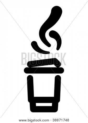 Hot takeout beverage icon