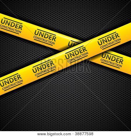 Under construction caution tape