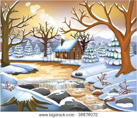 romantic winter scene