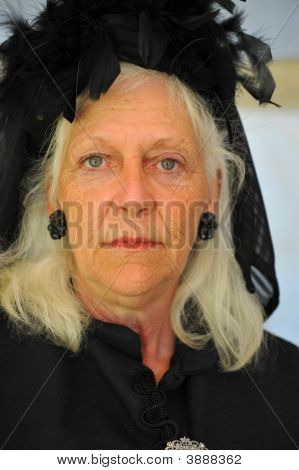Old Woman In Mourning