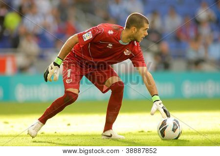 BARCELONA - OCT, 27: Ruben Ivan Martinez of Rayo Vallecano during a Spanish League match between Espanyol and Rayo Vallecano at the Estadi Cornella on October 27, 2012 in Barcelona, Spain