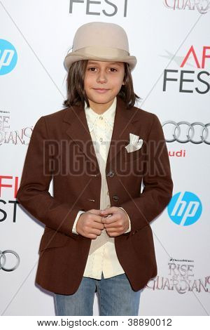 LOS ANGELES - NOV 4:  Isaak Presley arrives at the AFI Film Festival 2012